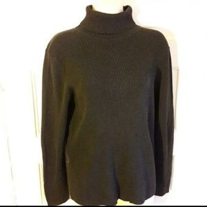 Faded Glory women's black ribbed turtleneck